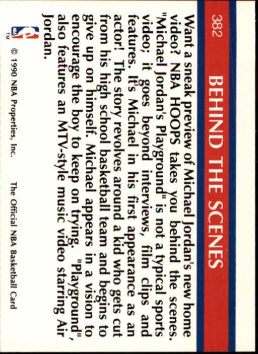 1990-91 Hoops #382 Michael Jordan/Playground back image