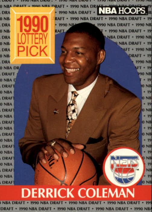 1990-91 Hoops #390 Derrick Coleman LS RC