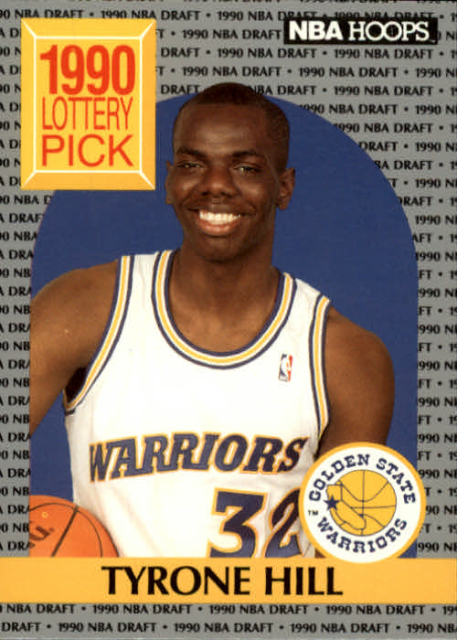 1990-91 Hoops #400 Tyrone Hill LS RC