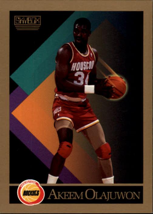 1990-91 SkyBox #110 Hakeem Olajuwon