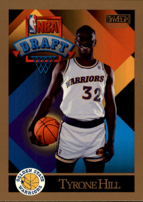 1990-91 SkyBox #358 Tyrone Hill RC