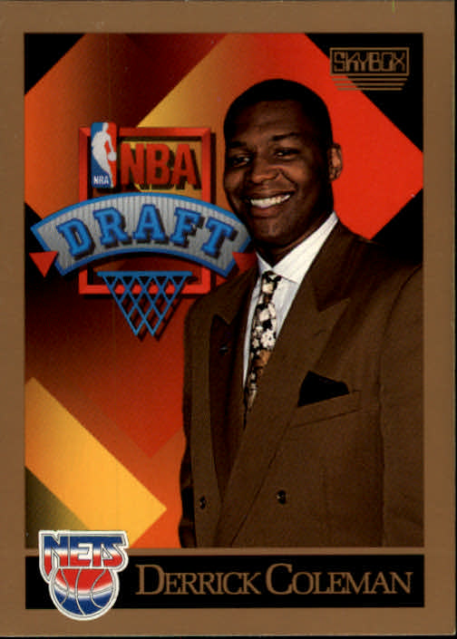 1990-91 SkyBox #362 Derrick Coleman RC