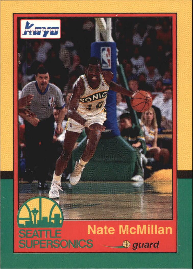 1990-91 Supersonics Kayo #11 Nate McMillan
