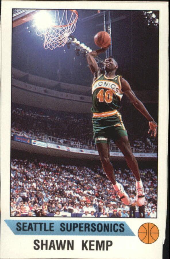 1990-91 Panini Stickers #20 Shawn Kemp