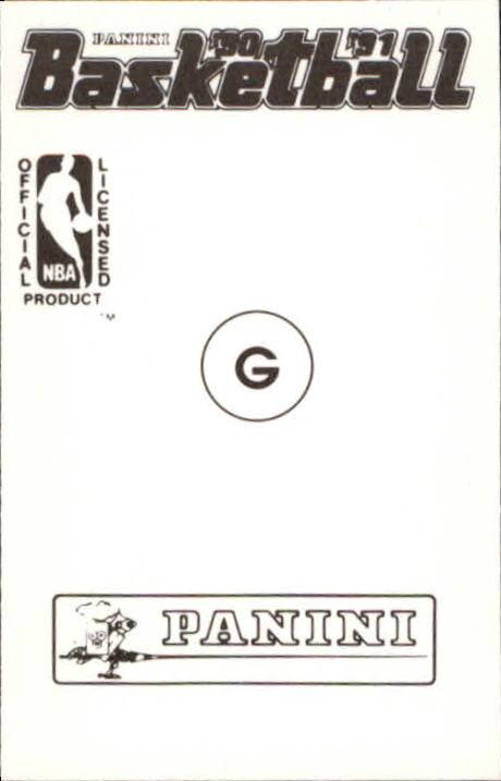 1990-91 Panini Stickers #G Michael Jordan AS back image