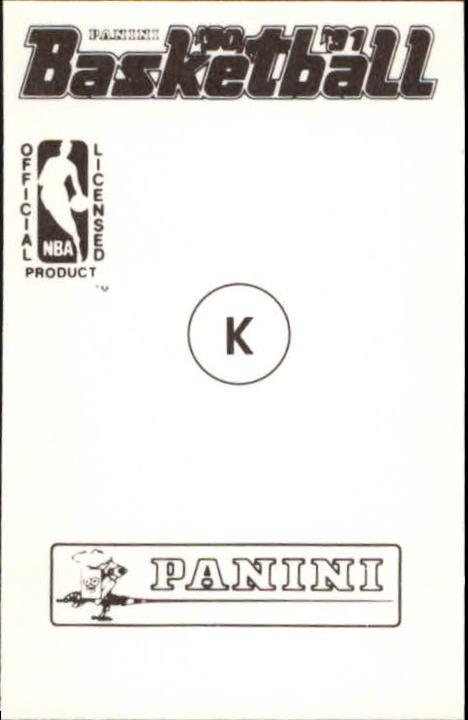 1990-91 Panini Stickers #K Michael Jordan back image
