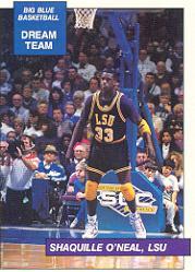 1990-91 Kentucky Big Blue Dream Team/Award Winners #19 Shaquille O'Neal/LSU