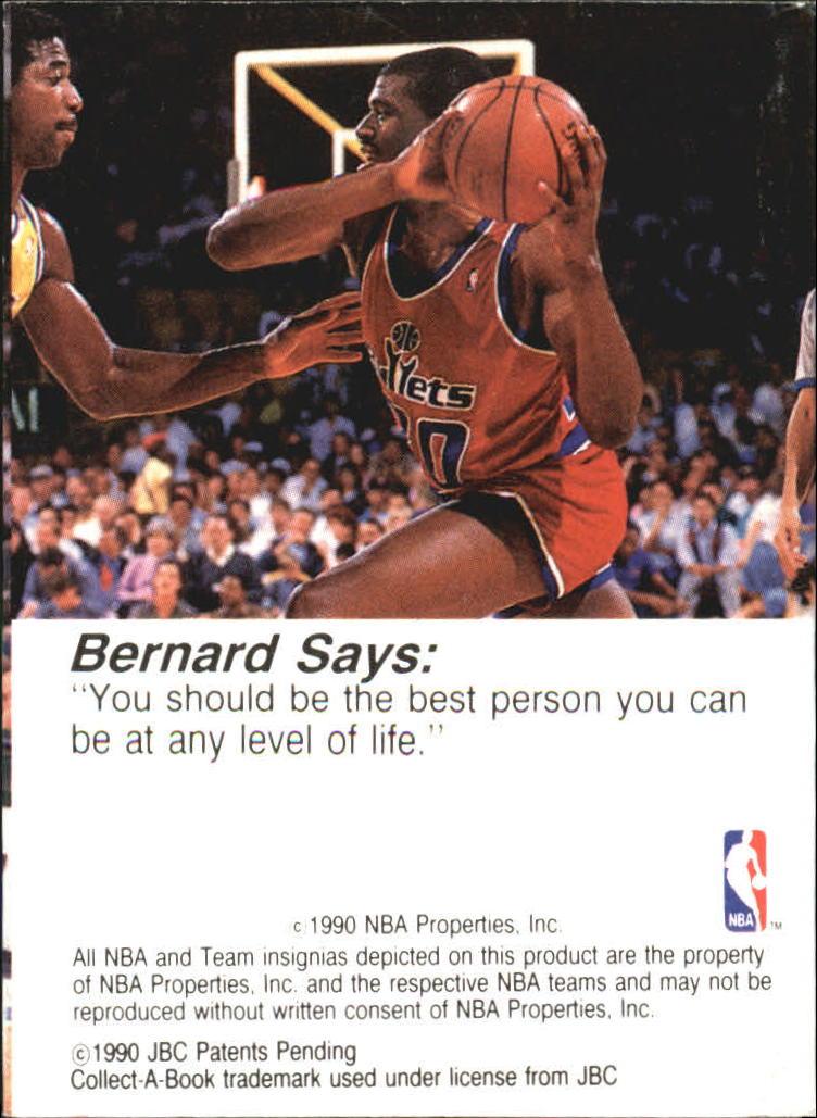 1990-91 Hoops CollectABooks #30 Bernard King back image