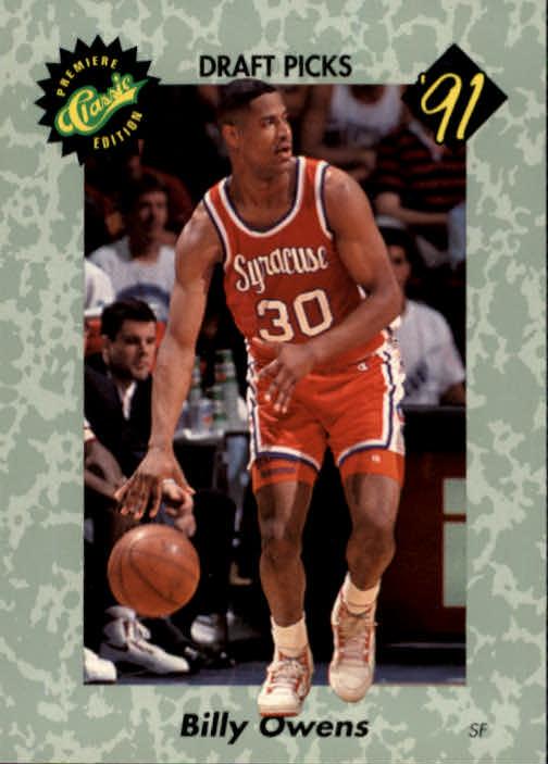 1991 Classic #2 Billy Owens