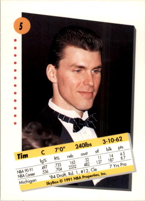 1991-92 SkyBox #5 Tim McCormick back image