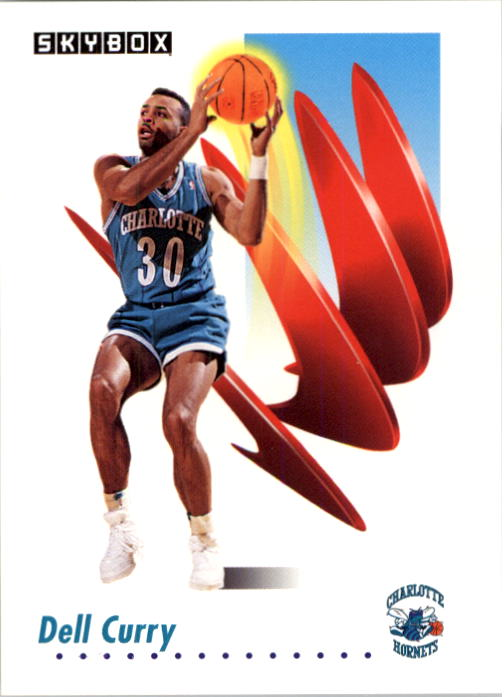 1991-92 SkyBox #25 Dell Curry