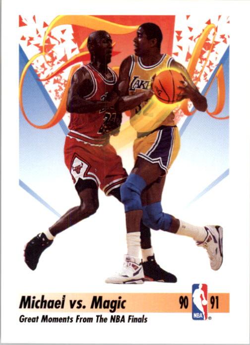 1991-92 SkyBox #333 Magic Johnson FIN/Michael Jordan