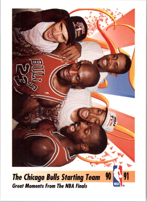 1991-92 SkyBox #337 Bulls Starting Five/Great Moments from/the NBA Finals