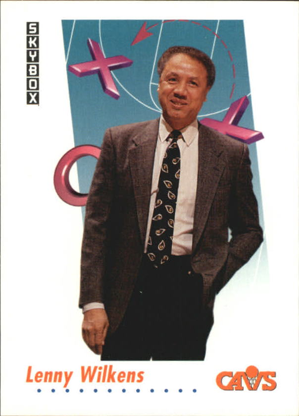 1991-92 SkyBox #382 Lenny Wilkens CO