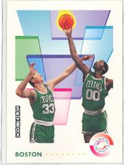 1991-92 SkyBox #460 Larry Bird/Robert Parish TW