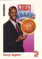 1991-92 SkyBox #521 Stacey Augmon RC