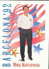 1991-92 SkyBox #542 Mike Krzyzewski CO USA RC