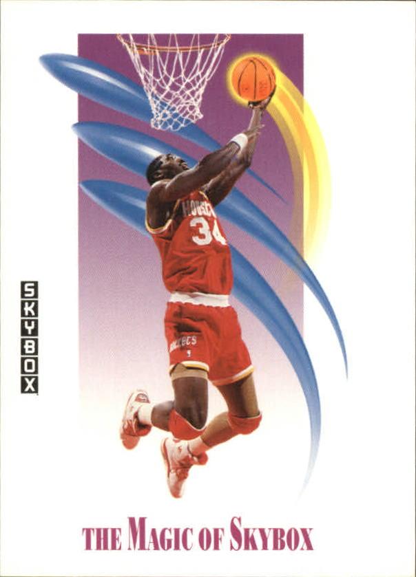 1991-92 SkyBox #568 Hakeem Olajuwon MAG
