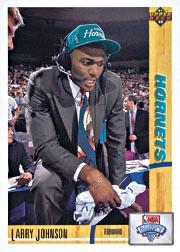 1991-92 Upper Deck #2 Larry Johnson UER RC/(Career FG Percentage/is .643 not .648)