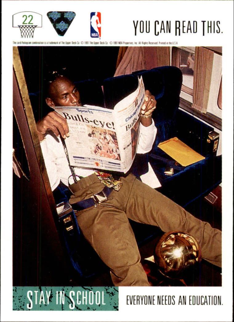 1991-92 Upper Deck #22 Michael Jordan SCHOOL back image