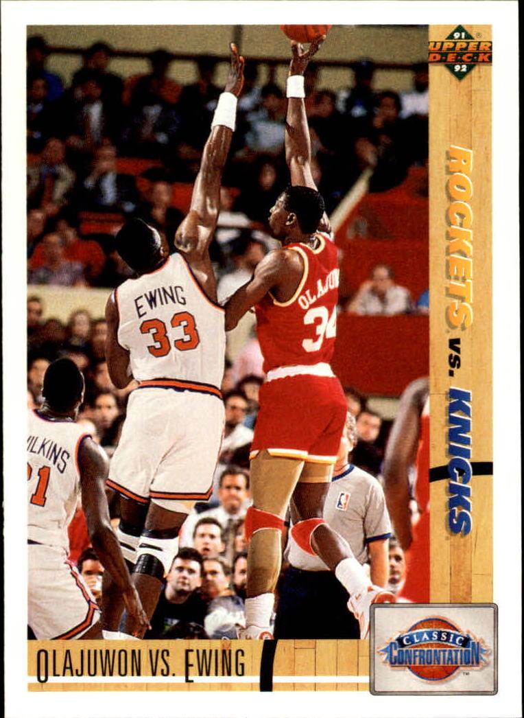 1991-92 Upper Deck #33 Hakeem Olajuwon CC/Patrick Ewing