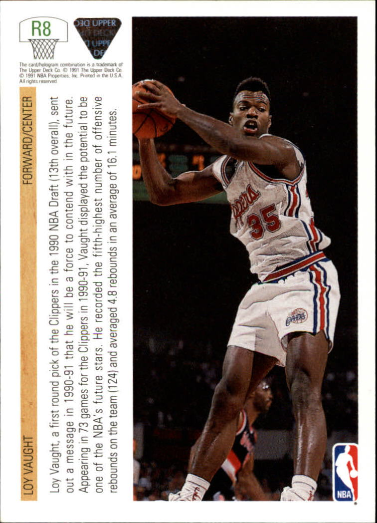 1991 92 Upper Deck Rookie Standouts R8 Loy Vaught NM MT