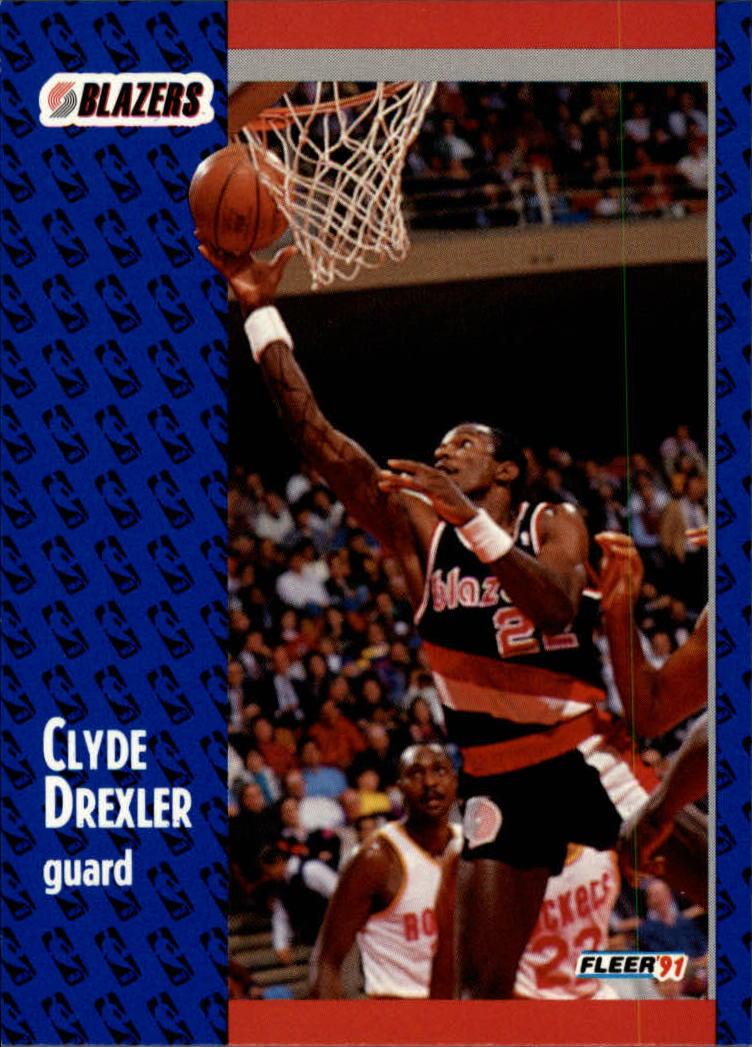 1991 Fleer Clyde Drexler 168 Basketball Card