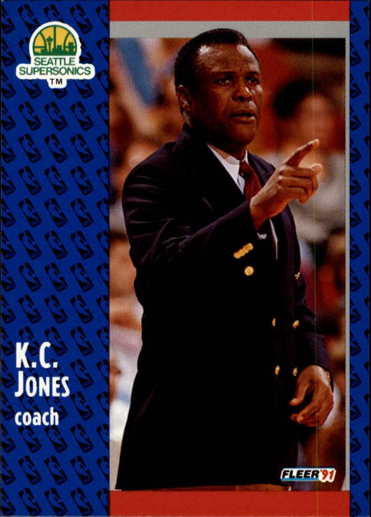 1991-92 Fleer #191 K.C. Jones CO
