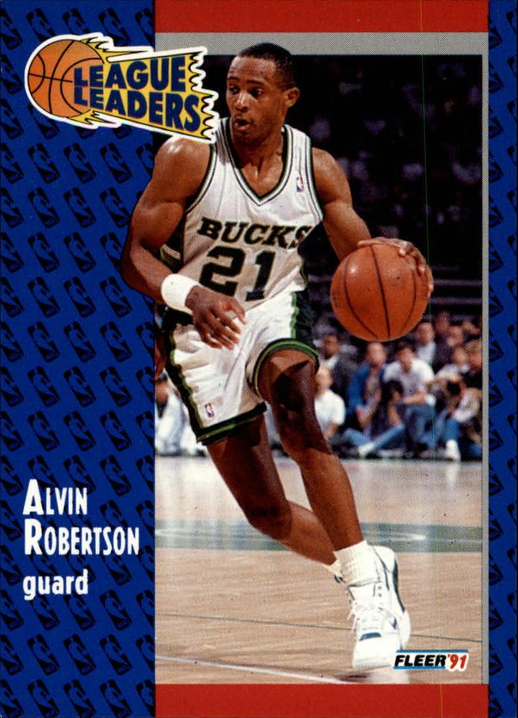 1991-92 Fleer #222 Alvin Robertson LL