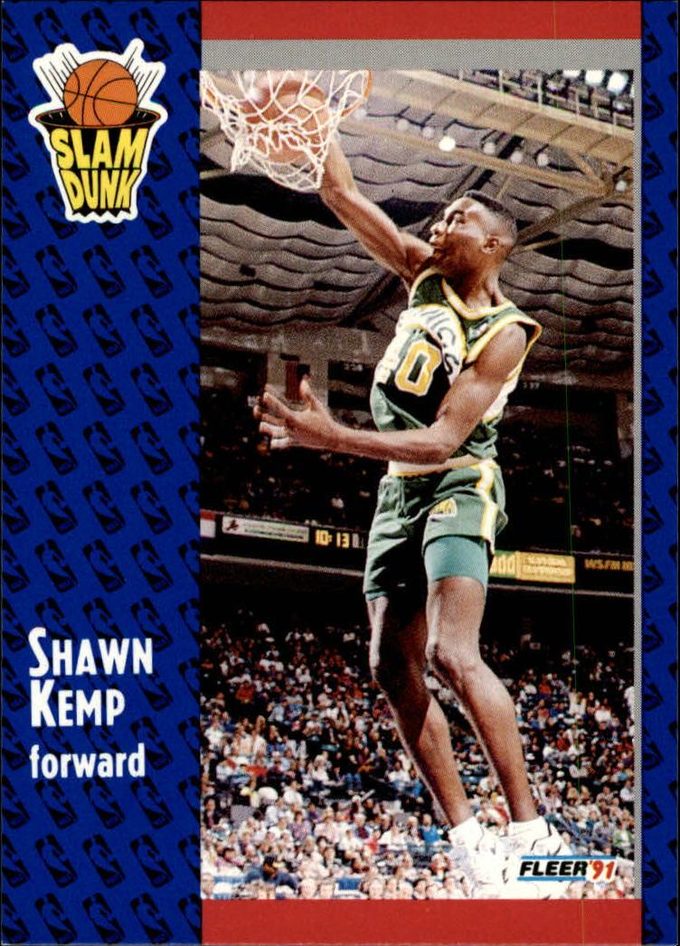 1991-92 Fleer #231 Shawn Kemp SD