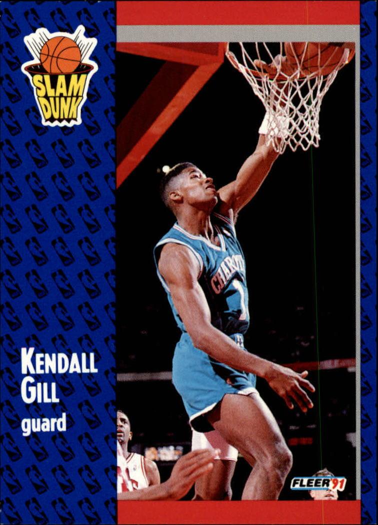 1991 Fleer Kendall Gill 232 Basketball Card