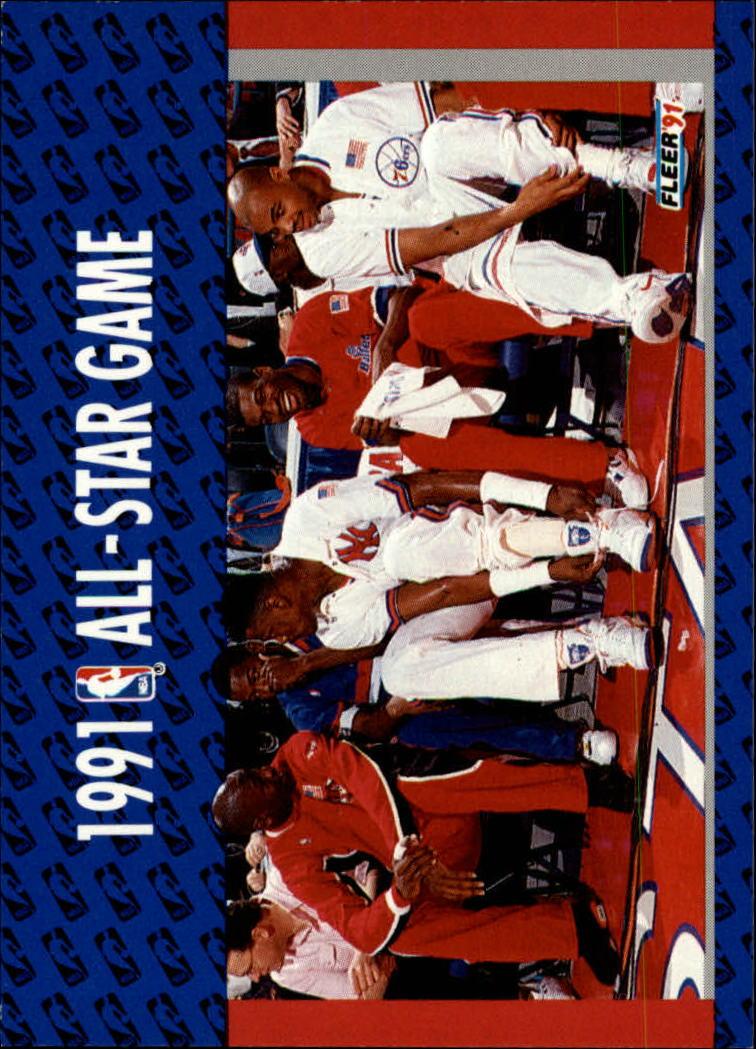 1991-92 Fleer #233 Michael Jordan/'91 All Star Game/Enemies - A Love Story/(East Bench Scene)