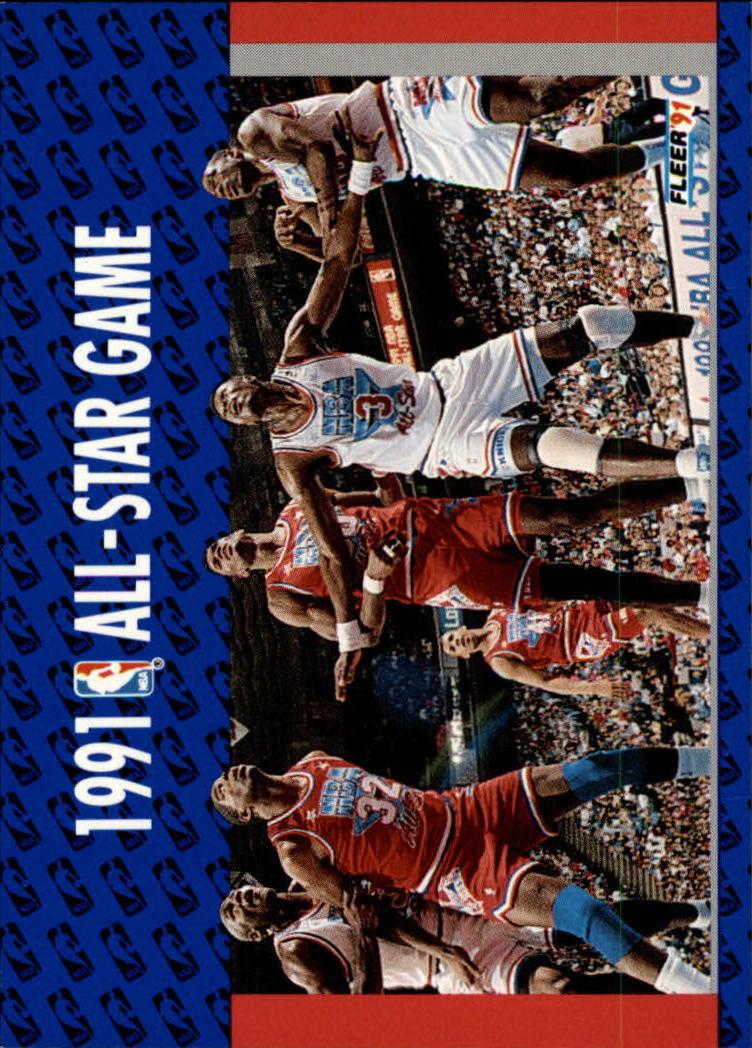 1991-92 Fleer #237 Michael Jordan/Magic Johnson/David Robinson/Patrick Ewing