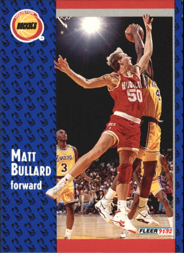 1991-92 Fleer #289 Matt Bullard RC