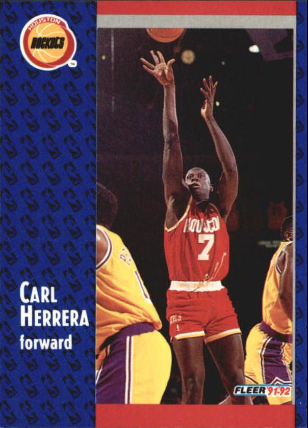 1991-92 Fleer #290 Carl Herrera RC