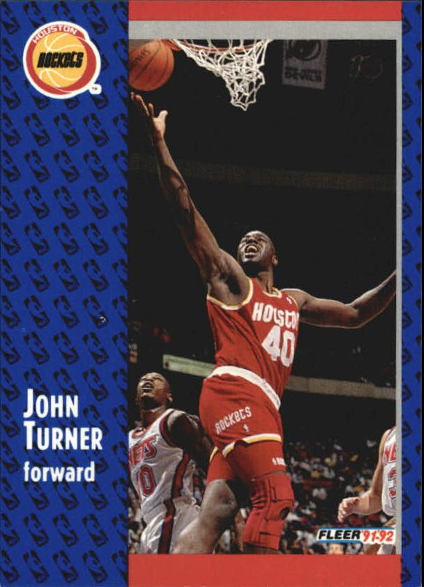 1991-92 Fleer #292 John Turner