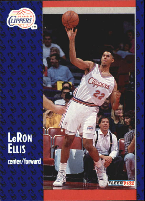 1991-92 Fleer #297 LeRon Ellis RC