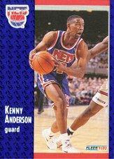 1991-92 Fleer #322 Kenny Anderson RC