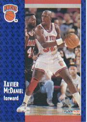 1991-92 Fleer #328 Xavier McDaniel