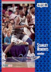 1991-92 Fleer #331 Stanley Roberts RC