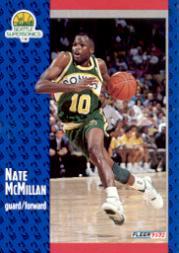 1991-92 Fleer #361 Nate McMillan