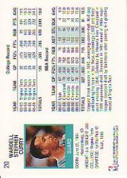 1991-92 Hoops #20 Dell Curry back image