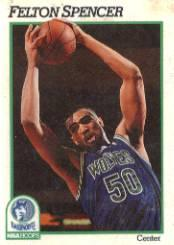 1991-92 Hoops #130 Felton Spencer