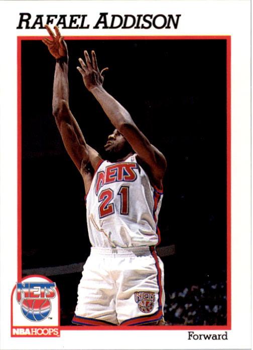 1991-92 Hoops #398 Rafael Addison RC