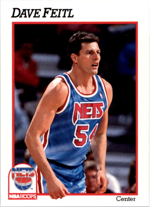 1991-92 Hoops #399 Dave Feitl RC