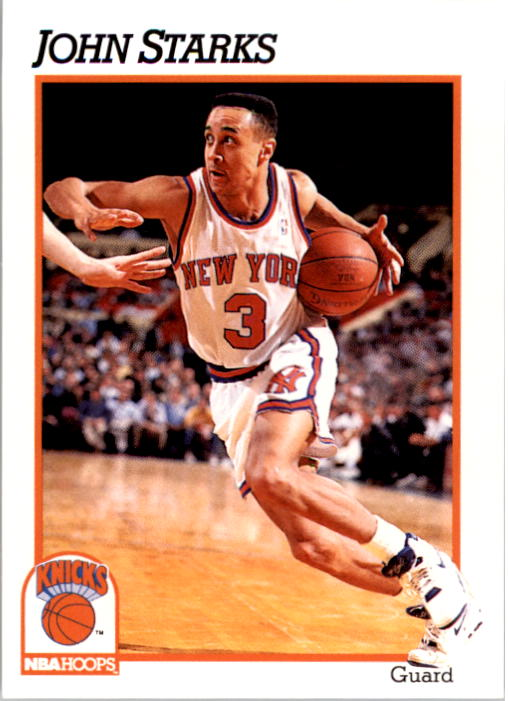 1991-92 Hoops #406 John Starks RC