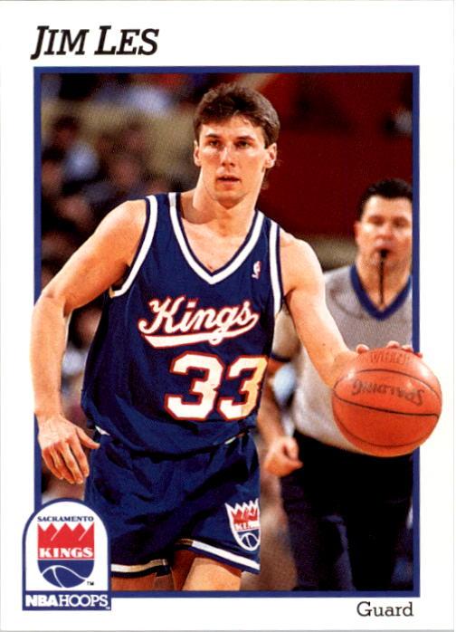 1991-92 Hoops #428 Jim Les RC