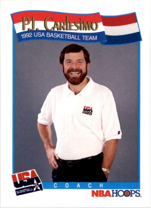 1991-92 Hoops #587 P.J.Carlesimo CO USA RC