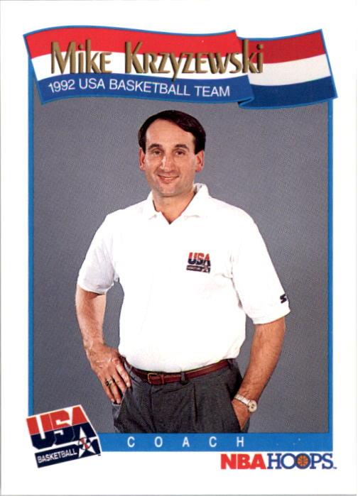 1991-92 Hoops #588 Mike Krzyzewski CO USA RC
