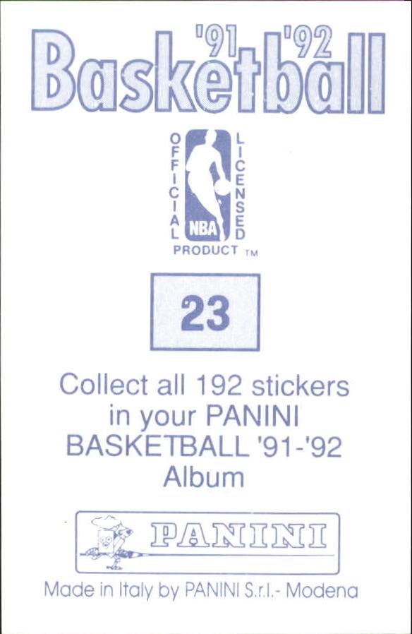 1991-92 Panini Stickers #23 Dan Majerle back image